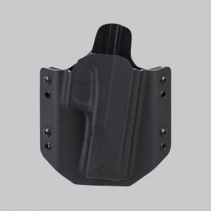 Fondina in kydex per pistola Glock G17 direct action nera