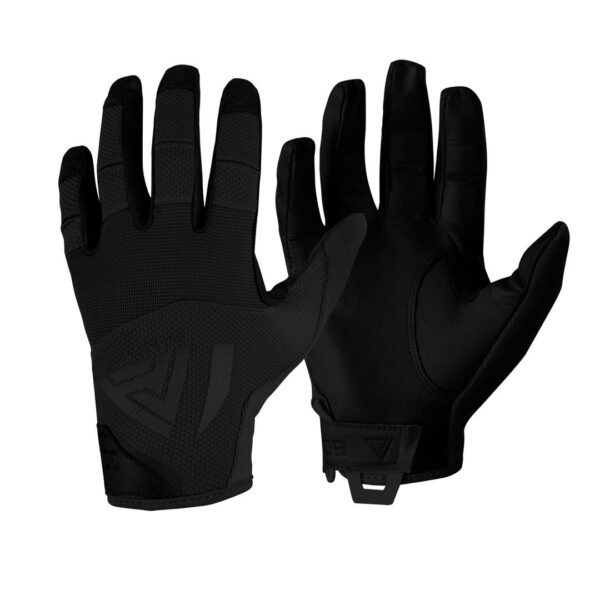 guanti direct action hard gloves leather in pelle neri