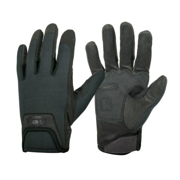 guanti tattici helikon tex urban neri antiscivolo sul lato interno
