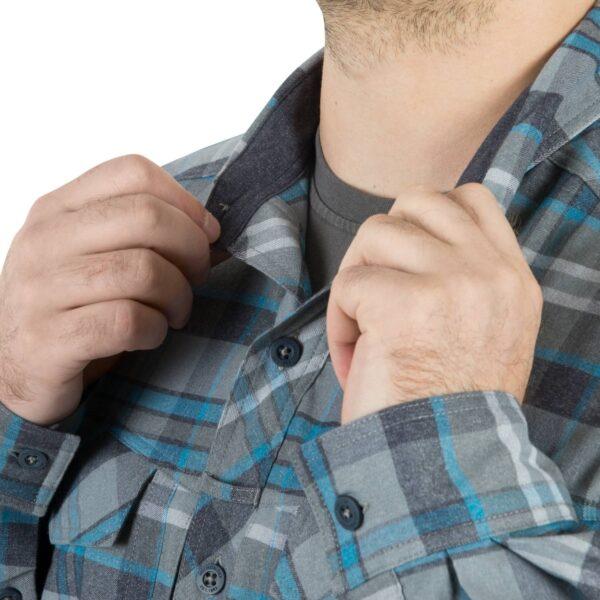 camicia in flanella colletto